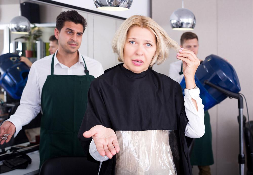 Неудачная стрижка у парикмахера
